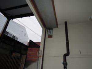 名古屋市緑区 電動軽量スチールシャッター 取替前1