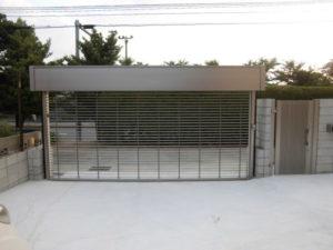 福岡県北九州市 電動 ステンレスグリルシャッター 施工後