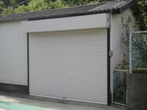 福岡市 電動シャッター 施工後