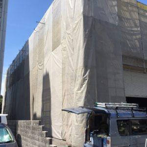 名古屋市守山区 塗装 外装 足場2