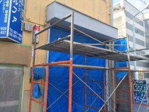 東京都葛飾区 文化シャッター モートW シルバーグレー 取替 3