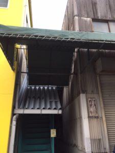 名古屋市守山区 外装工事 テント屋根復旧