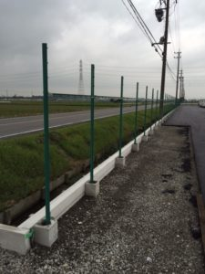 愛知県弥富市 フェンス設置1