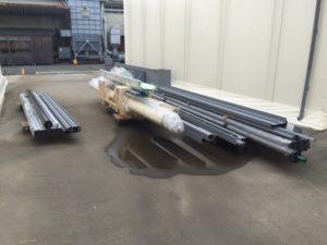 静岡県磐田市 重量シャッター 搬入 東洋シャッター