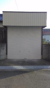 愛知県岩倉市 オリジナルシャッター 手動 パールホワイト スタンダード2
