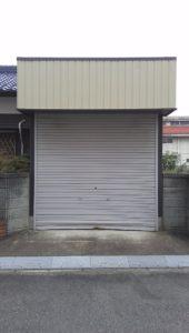愛知県岩倉市 オリジナルシャッター 手動 パールホワイト スタンダード