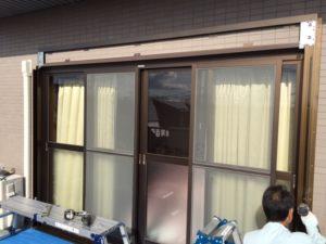 愛知県あま市 手動窓シャッター取付 下地付1