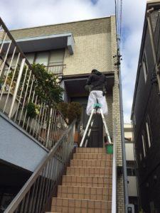 愛知県名古屋市北区 雨樋塗装