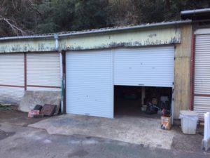 愛知県豊田市 オリジナルシャッター スタンダード ライトグレー 手動 倉庫 3