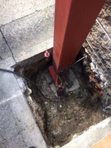 愛知県名古屋市熱田区 オリジナル ゲート付シャッター 基礎 下地 コンクリート5