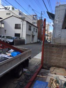 愛知県名古屋市熱田区 オリジナル ゲート付シャッター 基礎 下地 コンクリート3