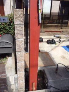 愛知県名古屋市熱田区 オリジナル ゲート付シャッター 基礎 下地 コンクリート7