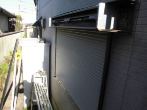福岡県北九州市 窓シャッター 手動化 電動2
