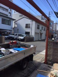 愛知県名古屋市熱田区 オリジナル ゲート付シャッター 基礎 下地 コンクリート4