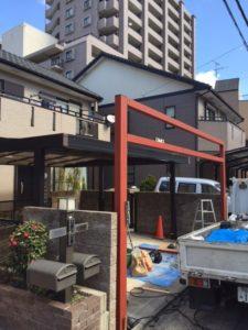 愛知県名古屋市熱田区 オリジナル ゲート付シャッター 基礎 下地 コンクリート6