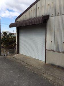 愛知県あま市 電動シャッター 取替 交換 オリジナル ライトグレー 2
