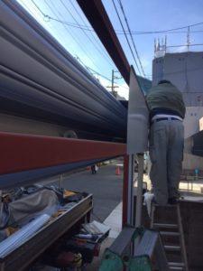 愛知県名古屋市熱田区 オリジナルゲートシャッター 電動 チェーン駆動2