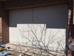 名古屋市中村区 手動シャッター交換 自動ドア修理1