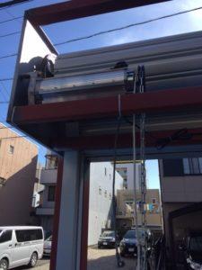 愛知県名古屋市熱田区 オリジナルゲートシャッター 電動 チェーン駆動1