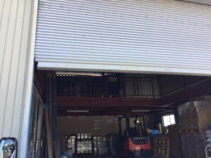 愛知県愛知郡東郷町 電動シャッター 修理 スラット入替1