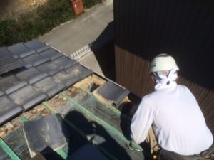 三重県三重郡川越町 屋根修繕 瓦屋根 雨漏り トップライト 天窓 5