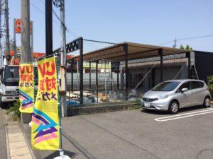愛知県海部郡蟹江町 折板屋根カーポート 近藤工業 エレント 1