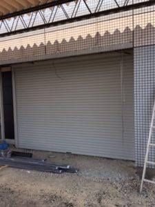愛知県海部郡蟹江町 店舗用電動シャッター取替工事
