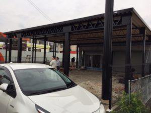 折板屋根カーポート御前様 工事完了検査4