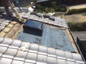三重県三重郡川越町 屋根修繕 瓦屋根 雨漏り トップライト 天窓 3