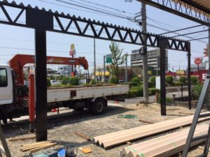 愛知県海部郡蟹江町 折板屋根カーポート 近藤工業 エレント 3