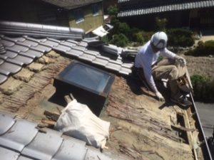 三重県三重郡川越町 屋根修繕 瓦屋根 雨漏り トップライト 天窓 2