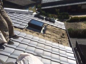 三重県三重郡川越町 屋根修繕 瓦屋根 雨漏り トップライト 天窓 1